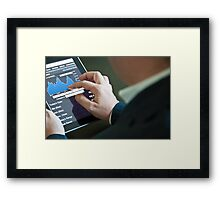Businessman with digital tablet PC Framed Print