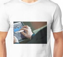 Businessman with digital tablet PC Unisex T-Shirt