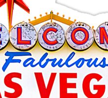 Welcome Las Vegas Shirt Sticker