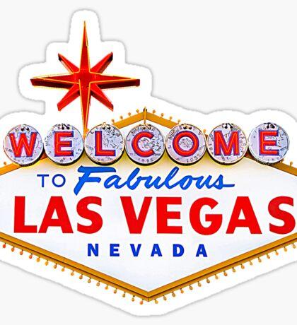 Welcome Las Vegas Shirt Sticker