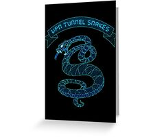 VPN Tunnel Snakes Greeting Card