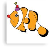Funny Clownfish Canvas Print