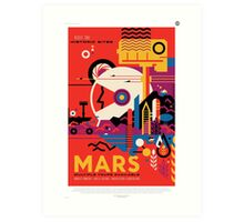 Mars NASA Space Tourist Art Print