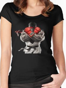 Ryu Street Fighter V artwork t-shirt Women's Fitted Scoop T-Shirt