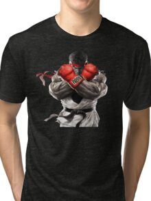 Ryu Street Fighter V artwork t-shirt Tri-blend T-Shirt