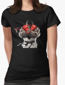 Ryu Street Fighter V artwork t-shirt Womens Fitted T-Shirt