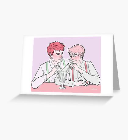 Milk Bar Boys Greeting Card