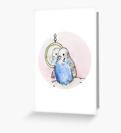 A Budgie's Daydream Greeting Card