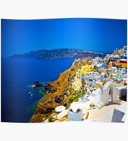 Magic Santorini Poster