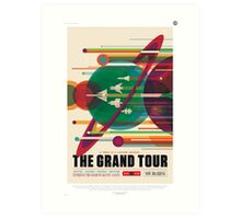 The Grand Tour of the Solar System - NASA Space Tourism Art Print