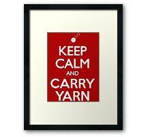 Keep Calm and Carry Yarn Knitting T Shirt Framed Print
