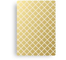 Pineapple Pattern Gold Canvas Print