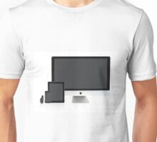 Multiscreen - Apple Watch, iPhone, iPad and iMac screens  Unisex T-Shirt
