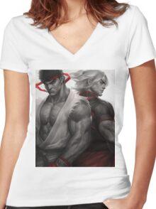 Ryu Ken Women's Fitted V-Neck T-Shirt