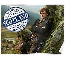 Outlander/Jamie Fraser/Made in Scotland Poster