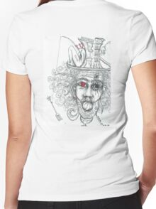 A spot of madness Women's Fitted V-Neck T-Shirt
