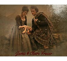 Outlander/Jamie & Claire painting Photographic Print