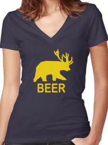Life Is Strange – Beer Hoodie, Trevor, Max Caufield Women's Fitted V-Neck T-Shirt