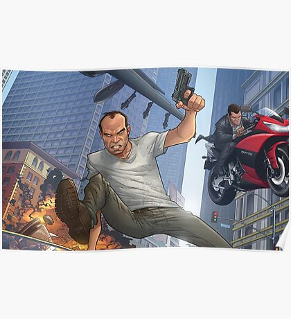 GTA 5 Artwork  Poster