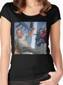 GTA 5 Artwork  Women's Fitted Scoop T-Shirt