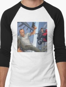 GTA 5 Artwork  Men's Baseball ¾ T-Shirt