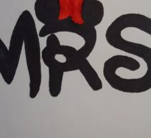Mr and Mrs design Sticker