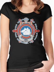 Rough sea Smooth sails Women's Fitted Scoop T-Shirt