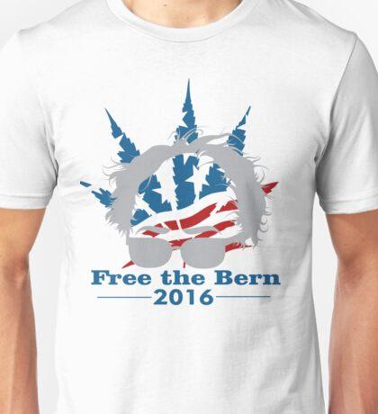 Bernie Sanders Feel the Bern, Free the Bern! Legalize Marijuana! Unisex T-Shirt