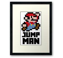 Mario Jump Man Framed Print