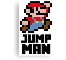 Mario Jump Man Canvas Print