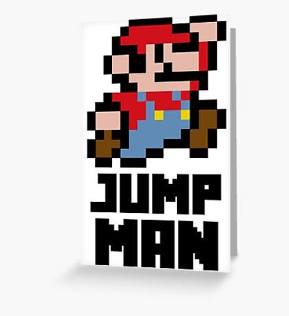 Mario Jump Man Greeting Card