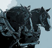 Harness Horses Blue by gretassister