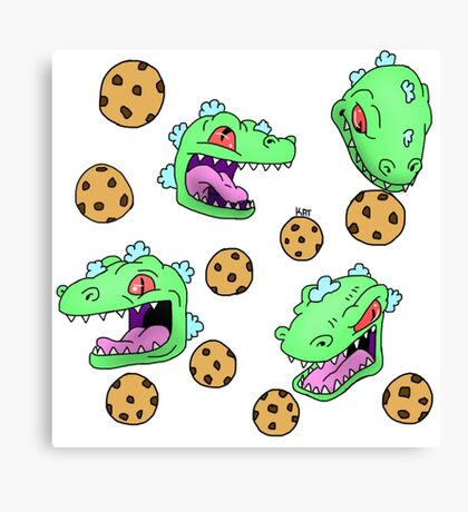 Cookie Dinosaur Canvas Print