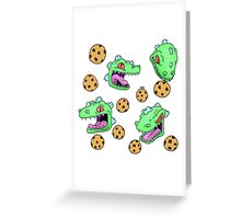 Cookie Dinosaur Greeting Card