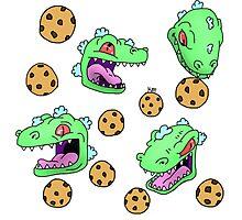 Cookie Dinosaur Photographic Print