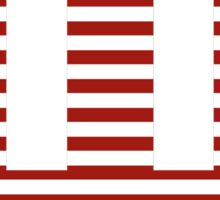 Indiana Red and White Stripe Sticker