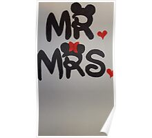 Mr and Mrs design Poster