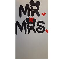Mr and Mrs design Photographic Print