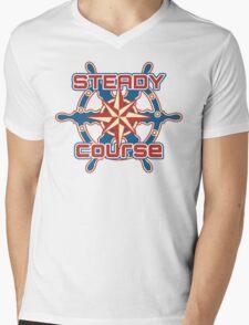 Steady course Mens V-Neck T-Shirt