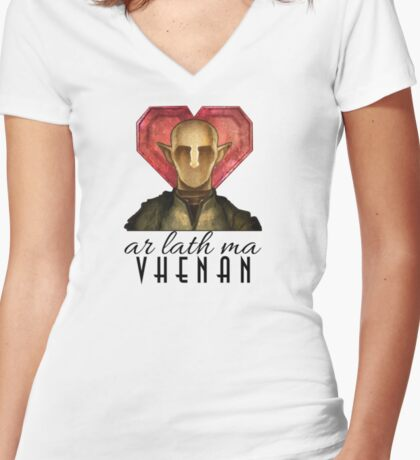 Dragon Age - Ar Lath Ma, Vhenan Women's Fitted V-Neck T-Shirt