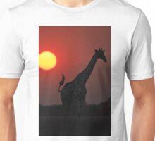 Giraffe silhouette - African Wildlife Background - Sun of Glory Unisex T-Shirt