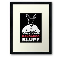 Smart Kangaroo Bluff Poker Game Playing Vector Face Framed Print