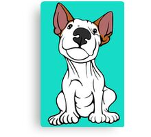 Cheeky English Bull Terrier Lola  Canvas Print