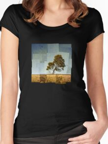 Abstract Landscape Women's Fitted Scoop T-Shirt