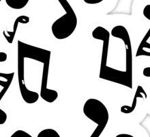 Dancing Music Notes Sticker