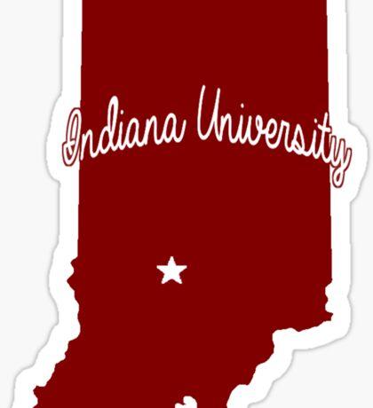 Indiana Cursive Sticker