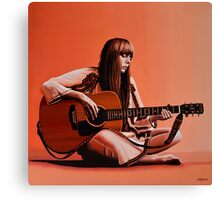 Joni Mitchell Painting Canvas Print