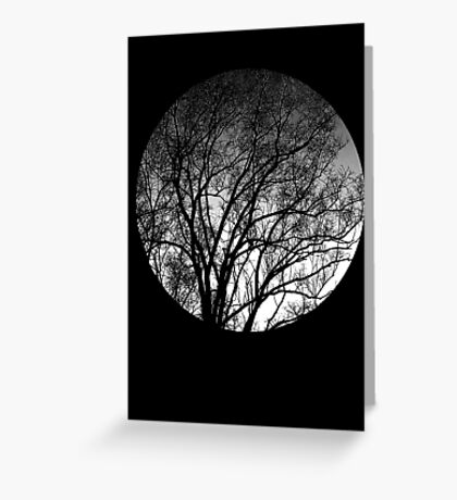 Nature into me! - Black Greeting Card