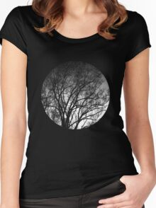 Nature into me! - Black Women's Fitted Scoop T-Shirt