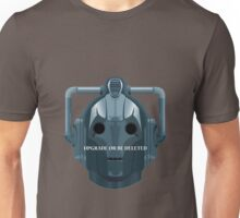Doctor Who Cyberman - Upgrade or be Deleted Unisex T-Shirt